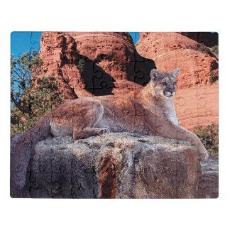 Puzzle Puma sur la falaise -