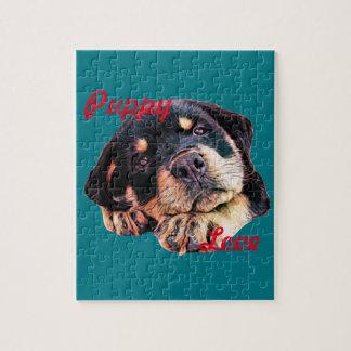 Puzzle Race allemande canine de chien de Rott d'amour de