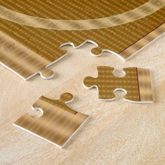 Puzzle Rayure d'OR - donnez loin à NUMÉRO UN cadeau