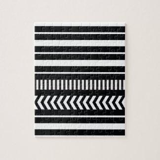 Puzzle Rayures noires et blanches