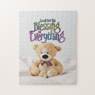 Puzzle Recherchez l'ours de nounours de bénédiction
