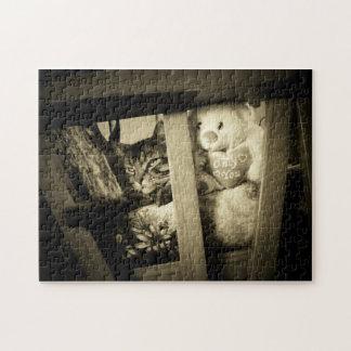 Puzzle Regardez là-bas le chat et l'ours
