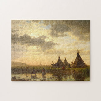 Puzzle roche de cheminée de bierstadt d'Albert, Ohalilah