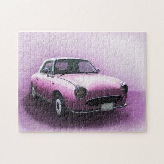 Puzzle rose de beaux-arts de voiture de Nissan