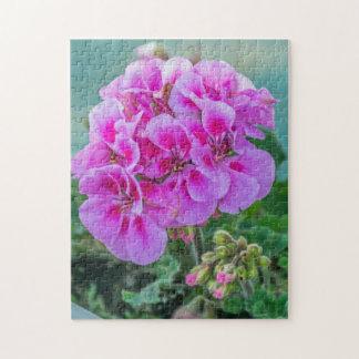 Puzzle rose de photo de géraniums