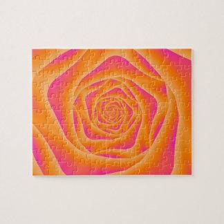 Puzzle rose de spirale orange et rose