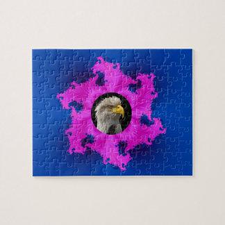 Puzzle rose et bleu de cadre