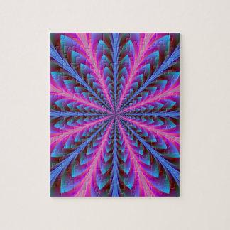 Puzzle rose et bleu de rayonnement