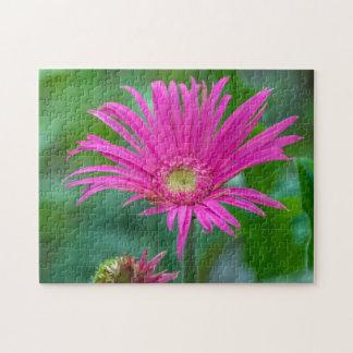 Puzzle rose lumineux de fleur