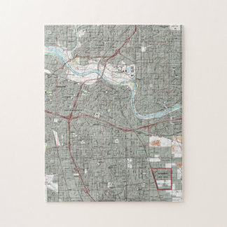 Puzzle Sacramento la Californie Map (1992)