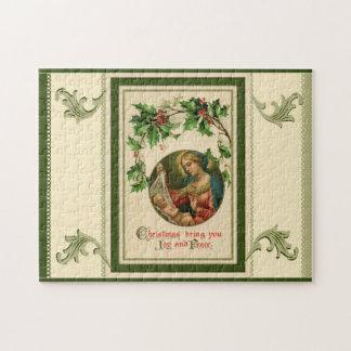 Puzzle Scène vintage de nativité de Noël