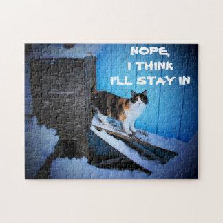 Puzzle Séjour de jour de neige dedans