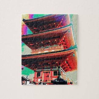 Puzzle Série psychédélique de pagoda du Japon