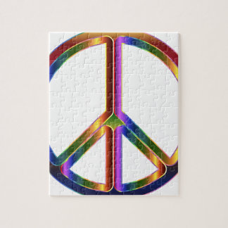 Puzzle Signe de paix coloré