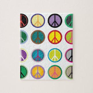 Puzzle Signes de paix colorés - motif de signe de paix