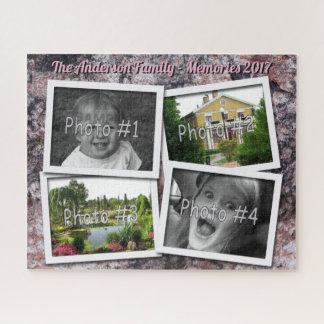 Puzzle Souvenirs de famille 4 photos faites sur commande