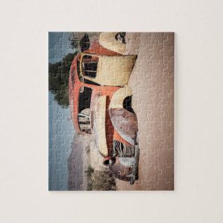 Puzzle Squelette de voiture dans le désert
