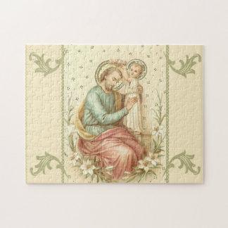 Puzzle St Joseph avec les lis de Jésus de bébé
