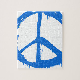 Puzzle Symbole bleu de signe de paix