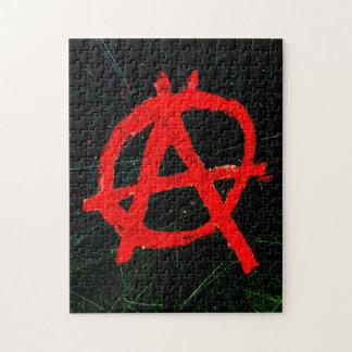 Puzzle Symbole rouge sale d'anarchie