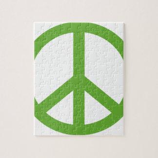 Puzzle Symbole vert de signe de paix