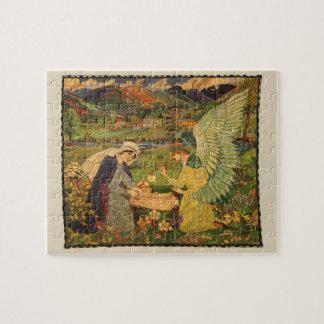 Puzzle Tapisserie religieuse vintage avec le Jésus-Christ