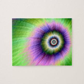 Puzzle teint noué d'explosion de couleur