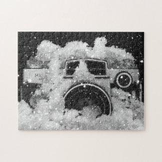 Puzzle Tempête de fonte de neige d'appareil-photo vintage