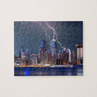 Puzzle Tempête de foudre au-dessus de New York