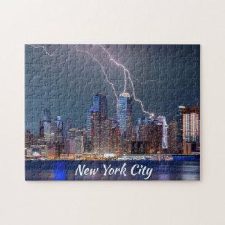 Puzzle Tempête de foudre de New York City