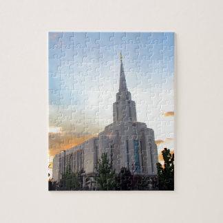 Puzzle Temple mormon de l'Utah de montagne de LDS Oquirrh