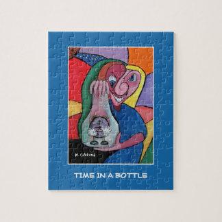 Puzzle Temps dans une bouteille sur le bleu - morceaux de