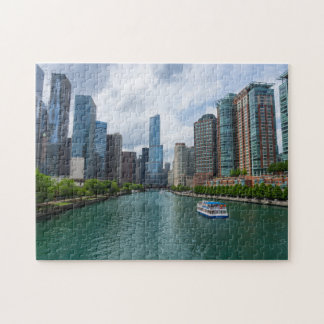 Puzzle Tour de la rivière Chicago et d'atout