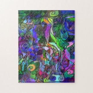 Puzzle Toutes les couleurs avec des remous et des lignes