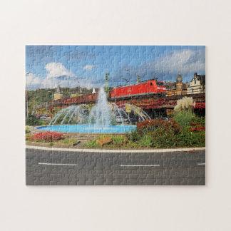 Puzzle Train de marchandises à Linz au Rhin