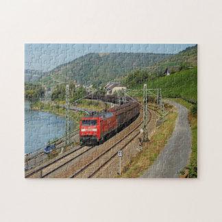 Puzzle Train de marchandises dans les Lorch au Rhin