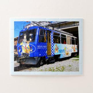Puzzle Train de marmottes en Suisse
