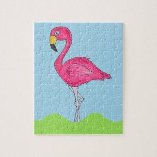 Puzzle tropical d'oiseau de flamant de rose d'île