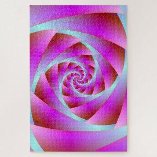 Puzzle Une torsion de bleu et de rose