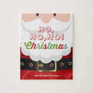Puzzle Vacances de bonne année de Noël du père noël Ho Ho