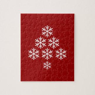 Puzzle Vacances de ~ d'arbre de Noël de flocon de neige