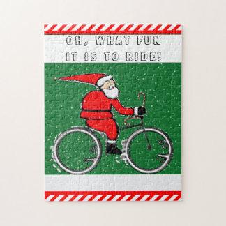 Puzzle Vacances faisantes du vélo