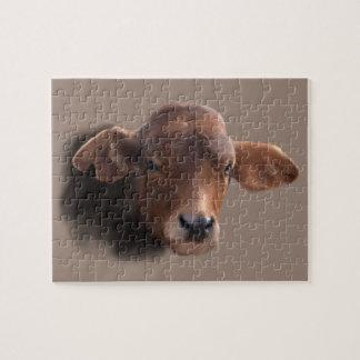 Puzzle Vache rousse à Brown