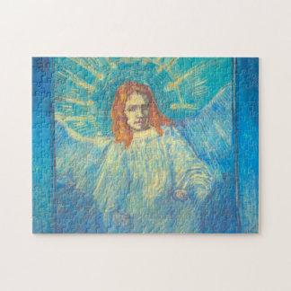 Puzzle Van Gogh ; Demi de figure d'un ange, art vintage