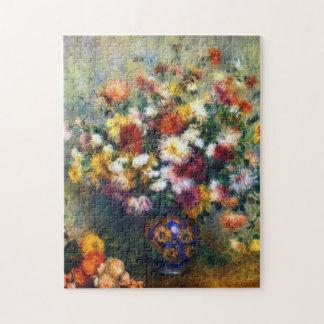 Puzzle Vase à Renoir de beaux-arts de chrysanthèmes