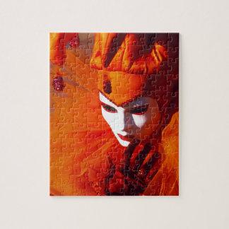 Puzzle Venise, Italie (IT) - costume orange de carnaval
