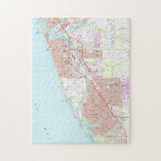 Puzzle Venise la Floride Map (1973)