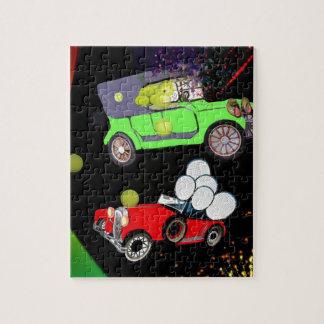 Puzzle Vieille abondance de voiture de mode des balles de