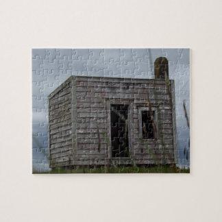 Puzzle vieille cabane de colons sur la colline