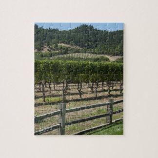 Puzzle Vignoble de Napa Valley avec la barrière